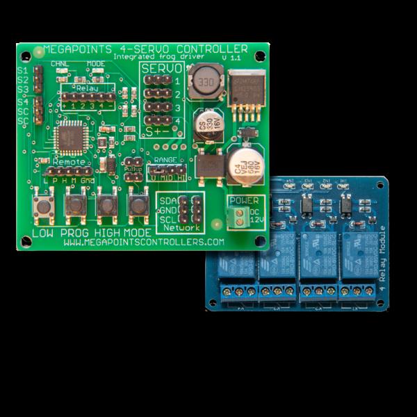 Servo 4R and relay board